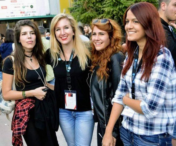 From left to right: Anna Maria Aurora Linkof, Konstantina Bethani, Irene Theochari and Katerina Tsoukala
